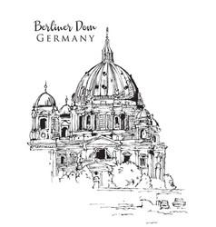 drawing sketch berliner dom vector image