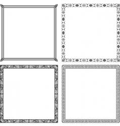 elegant vector frames vector image