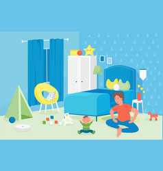 Family fatherhood and parenthood concept happy vector