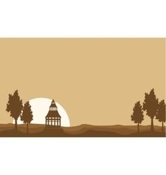 Flat of pavilion landscape vector