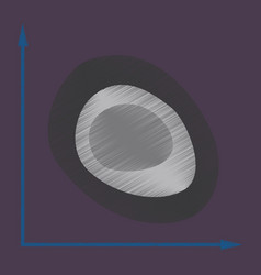 flat shading style icon graph vector image