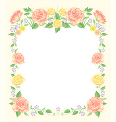 floral frame beautiful decoration vector image