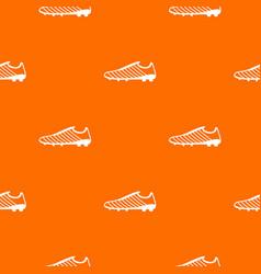 Football boots pattern orange vector