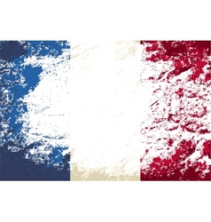 French flag Grunge background vector image