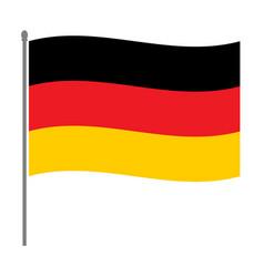german flag on the flagpole vector image