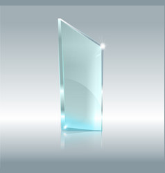 Glass transparent banner glass plates with vector