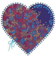 heart patterned vector image