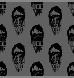 heavy rock music seamless pattern vintage vector image
