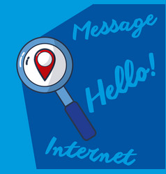 hello internet and message vector image
