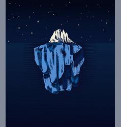 Iceberg in ocean a large piece glacier vector