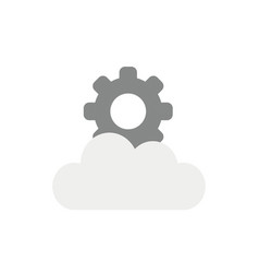 icon concept of gear on cloud vector image