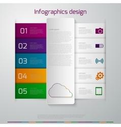 Infographics paper strips vector