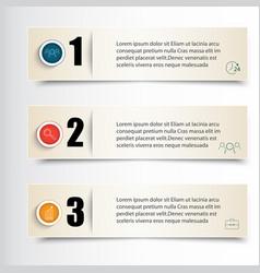 infographics set of three vector image
