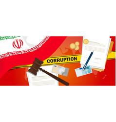 Iran corruption money bribery financial law vector