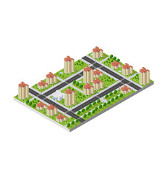 isometric 3d landscape top view building of vector image