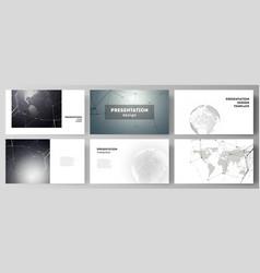 layout of the presentation slides design vector image