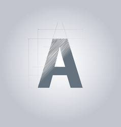 letter a logo alphabet logotype architectural vector image