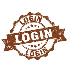 Login stamp sign seal vector