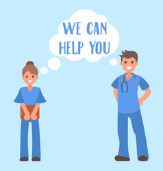 medical help banner young vector image