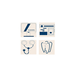 medical icon set for web for online concept vector image
