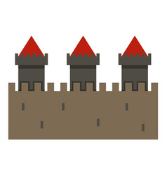 medieval fortification icon isolated vector image
