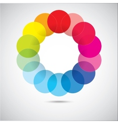 Modern colorful geometrical circles vector