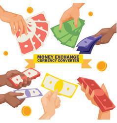 money stack of dollar or currency exchange cash vector image