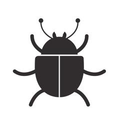 Monochrome silhouette wiht cyber security design vector