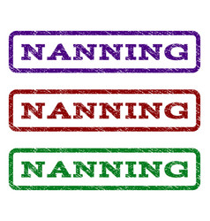 Nanning watermark stamp vector