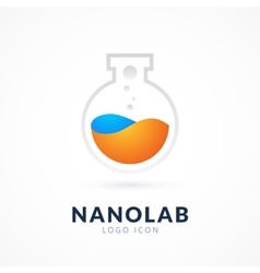 Nano lab logo template vector image