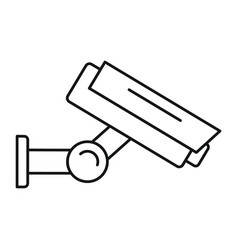 outdoor camera security icon outline style vector image