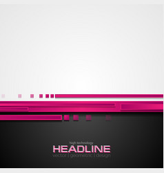 pink and black hi-tech abstract corporate vector image