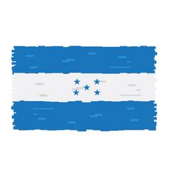 pixelated flag of honduras vector image