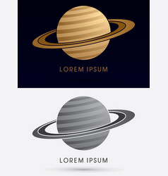 planet saturn vector image vector image