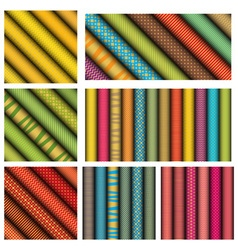 Rolled paper textures vector