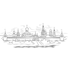 russian monastery vector image