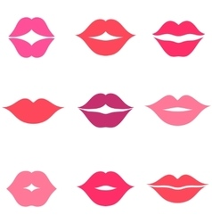 set women s lips icons isolated on white vector image