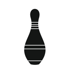 skittle for bowling in silhouette style vector image