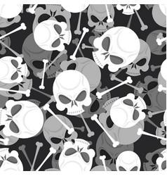 Skull and bones 3d pattern skeleton ornament vector