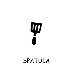 spatula flat icon vector image