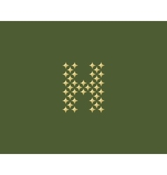 Stars letter h logotype luxury abc icon vector