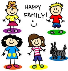 Stick figure gay family women vector image