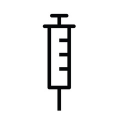 syringe icon with outline style vector image