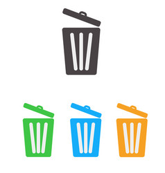 Trash icon set bin icon set vector