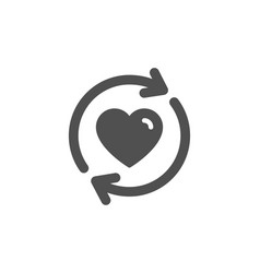 Update relationships icon love symbol vector