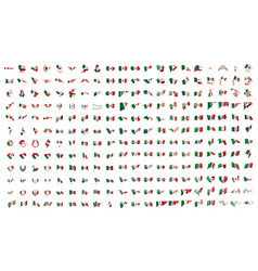 very big collection of flags of the mexican vector image