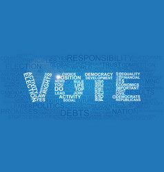 Vote made of different important statement words vector