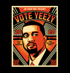 vote yeezy vector image