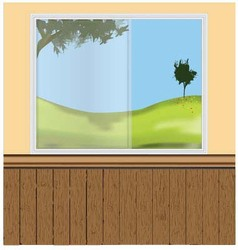 wall windows vector image