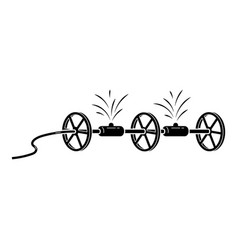 Wheel irrigation system icon simple style vector